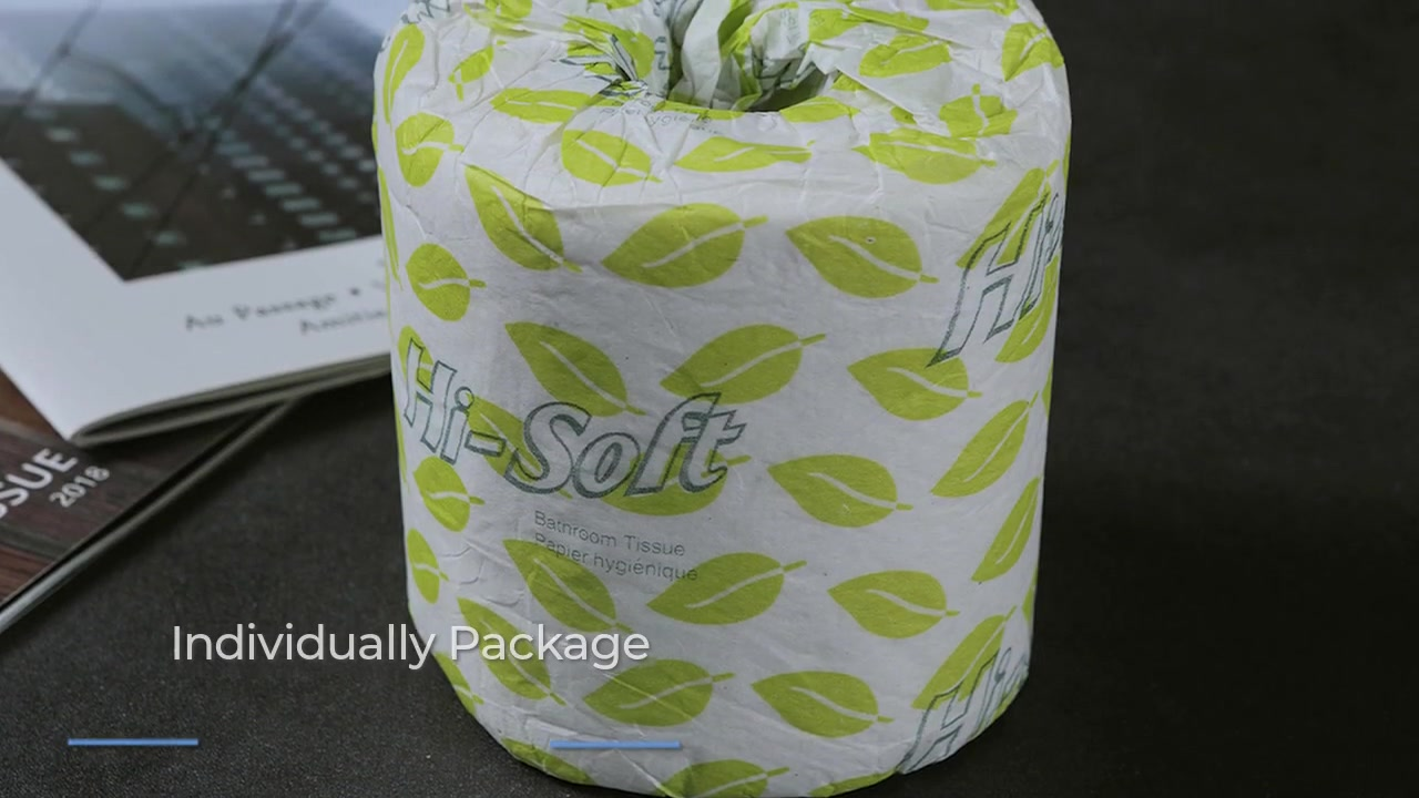 Dissoluble Soft Toilet Tissue Paper with Individually Package