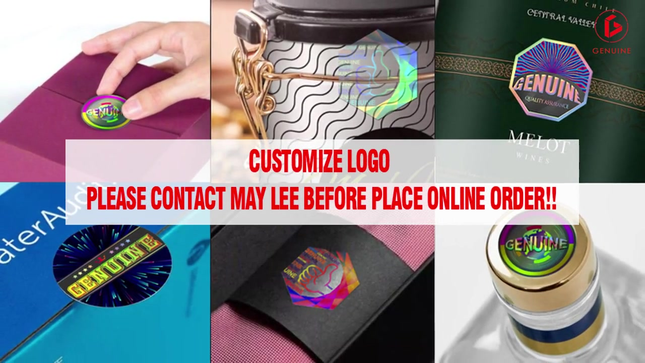 Customized Custom Holographic Labels Service Manufacturer-Genuine Hologram manufacturers From China