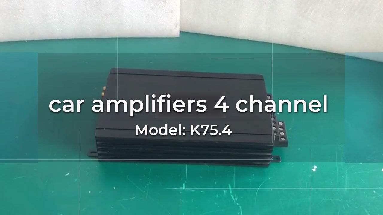 Best Quality car amplifiers 4 channel Factory