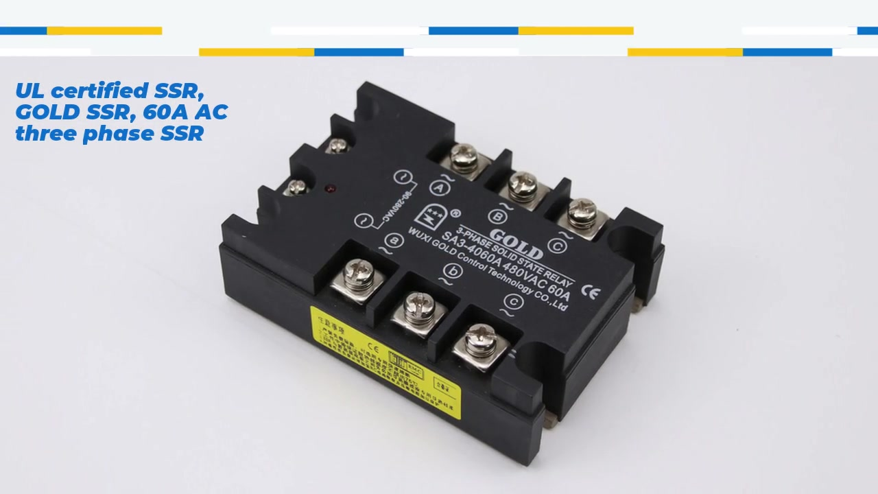 UL certified SSR, GOLD SSR, 60A AC three phase solid state relay manufacturer