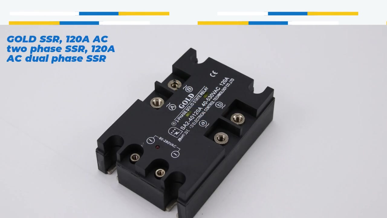 HighQuality GOLD SSR, 120A AC two phase SSR, 120A AC dual phase SSR, AC control AC solid state relay