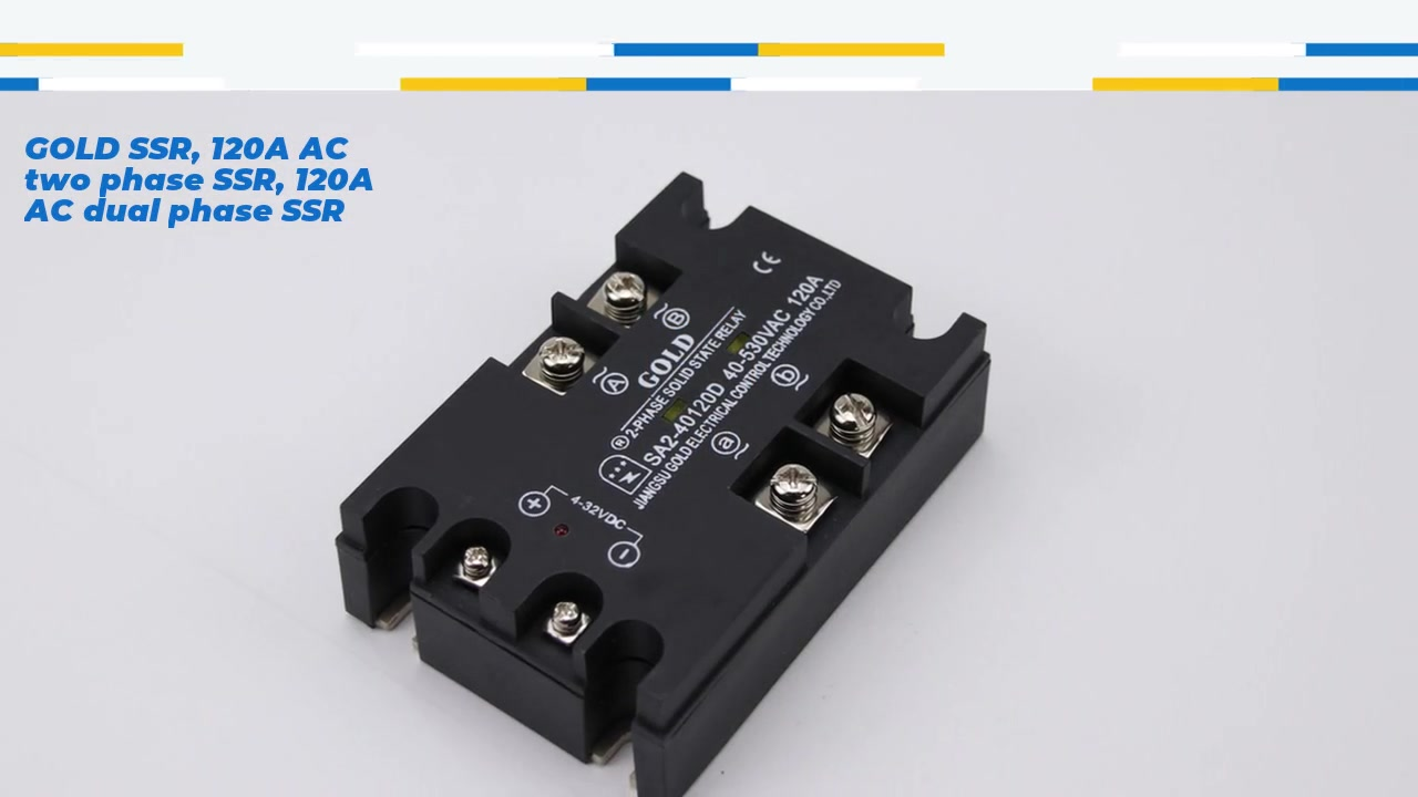GOLD SSR, 120A AC two phase SSR, 120A AC dual phase SSR, DC control AC solid state relay