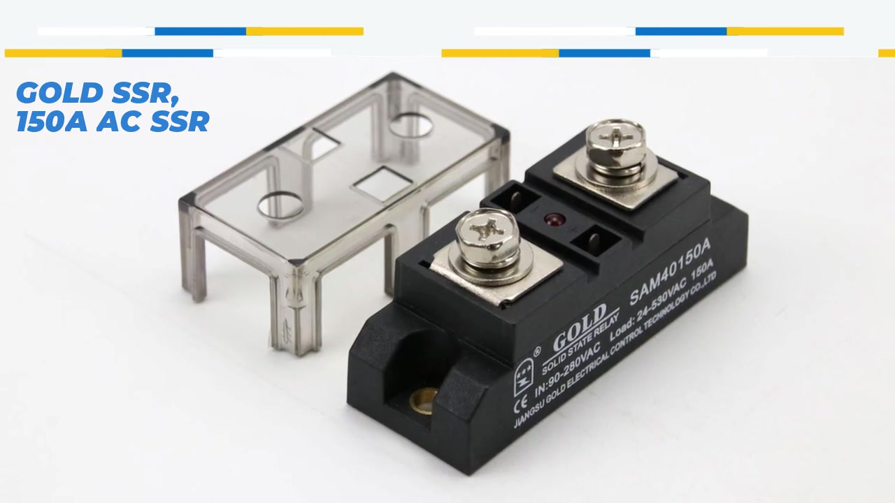 ゴールドSSR、150A AC SSR、AC制御ACソリッドステートリレー、入力90-280VAC、LEDの表示、出力電流容量150A、出力電圧24-530VAC