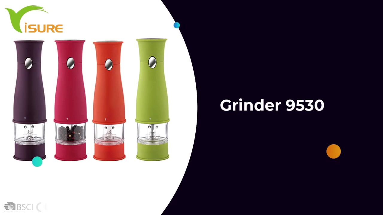 Adjustable Core Custom Home Electric Spice Grinder Pepper Mill 9530