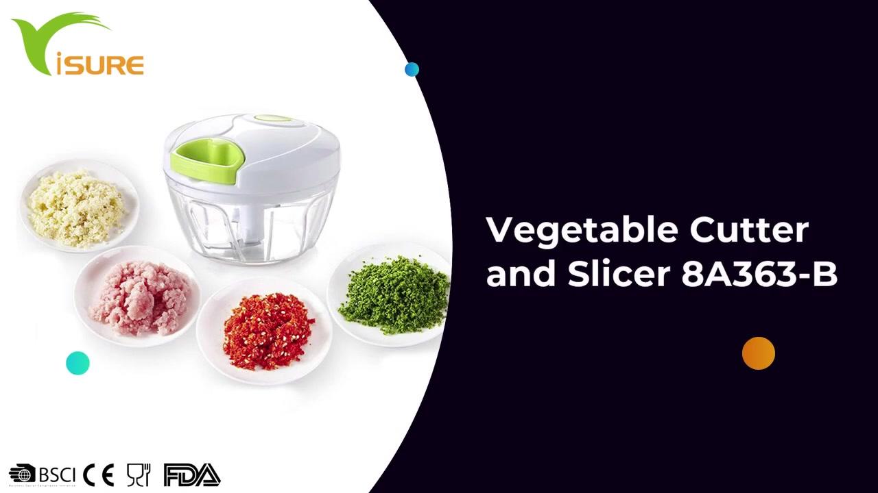 6 in 1 multifunctionele keukenaccessoires Gereedschappen Groente en fruit Chopper Cutter Groente Cutter en Slicer 8A363-B