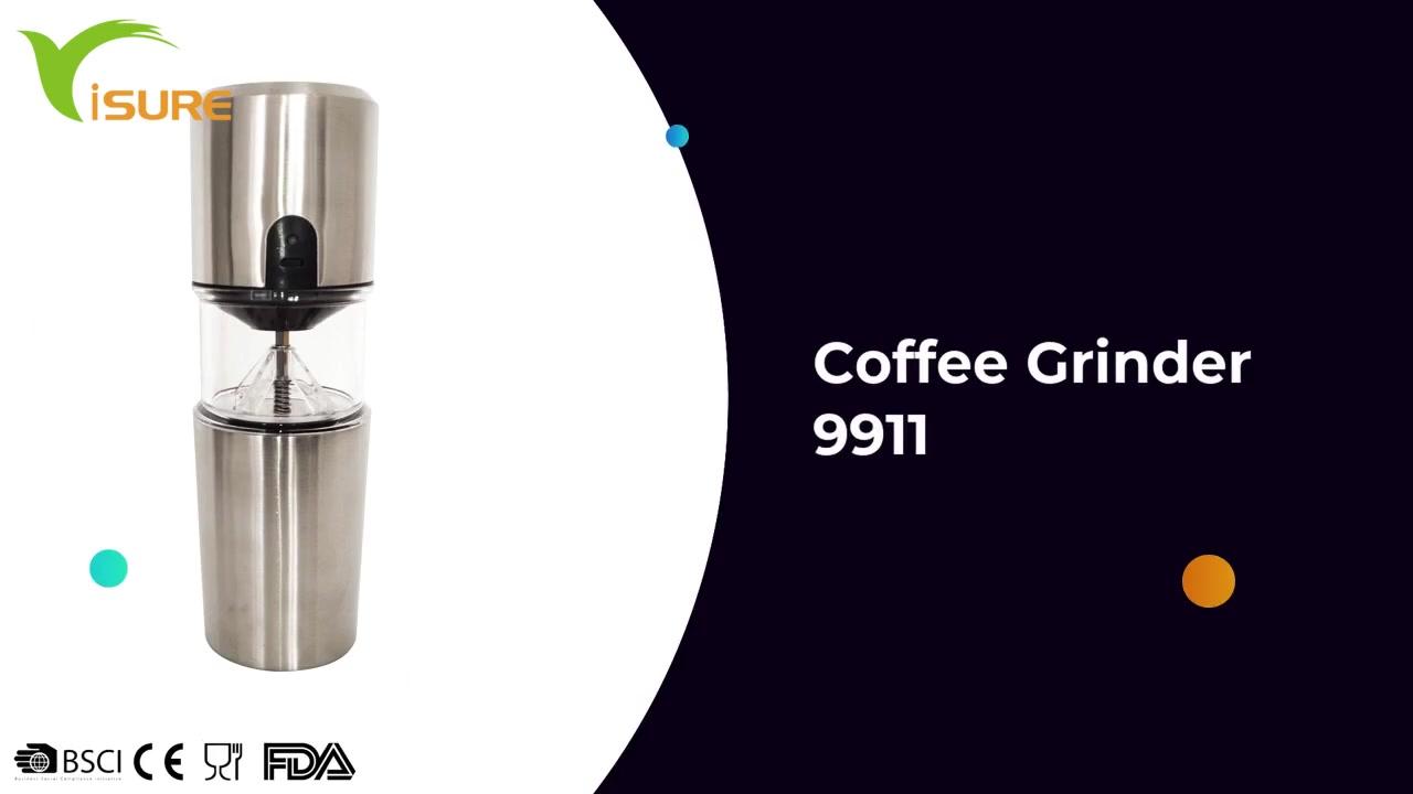 2021 Оптовая продажа нержавеющей стали портативный USB аккумуляторная электрическая кофемолка 9911