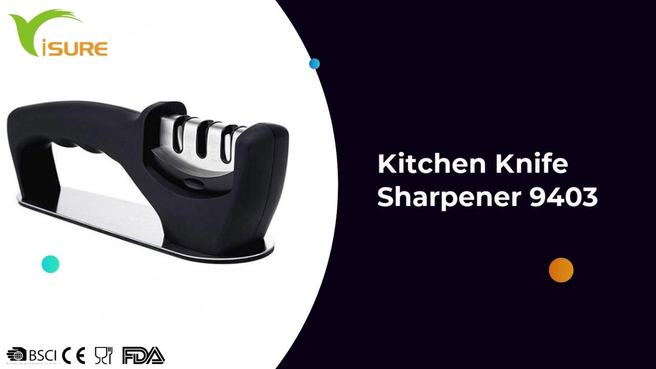 Küche 3-Stufiger Messer Sharper Schärfgerät Rutschfeste Base Diamant Professionelle Messerschärfer 9403