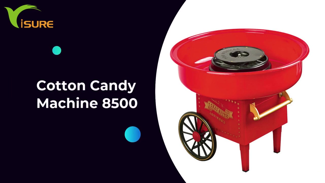 Newest electric home cotton candy floss maker machine 8500