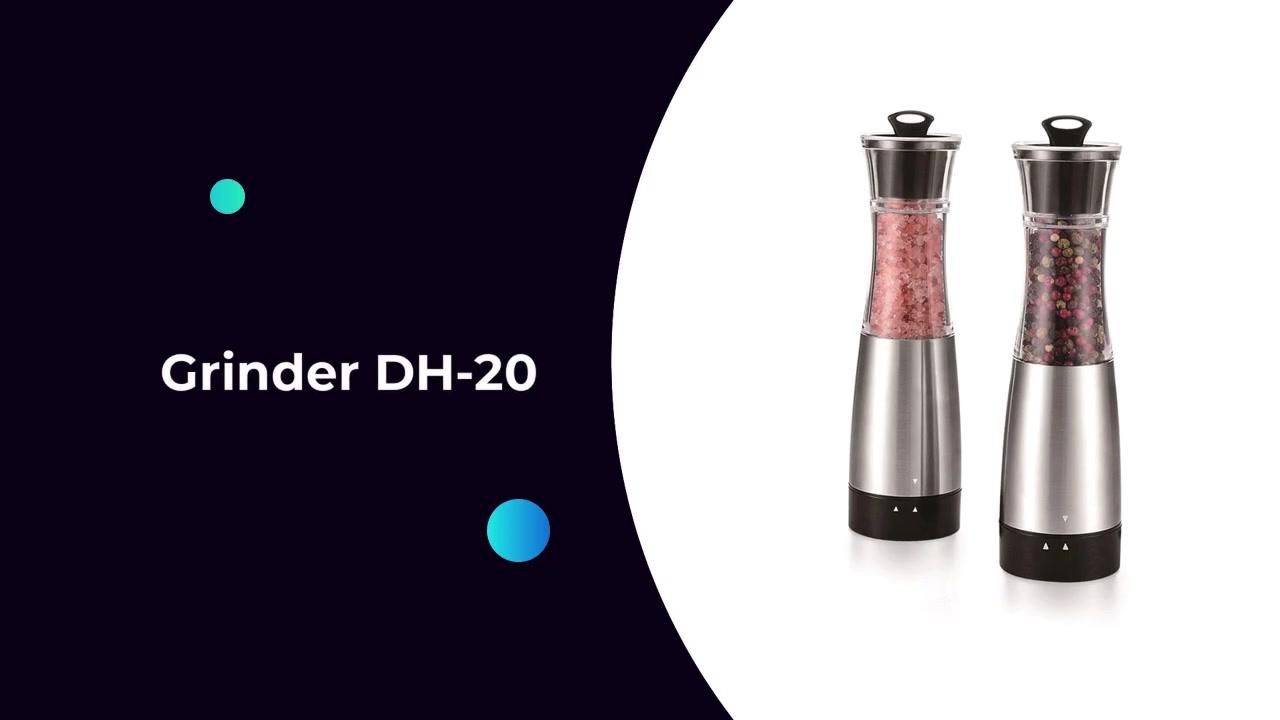 Новый дизайн специи мельница аккумуляторная фарция мельница электрическая соль и перфетщик набор DH-20