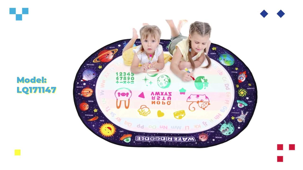 プロのOEM /アクアの描画マット子供スペースのテーマの楕円形の旅行マジック落書きマットメーカー
