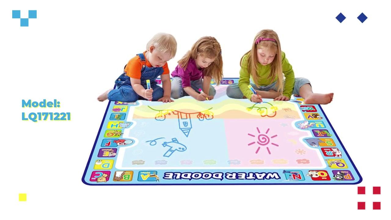 大型Aquadoodleマットの子供の認知水描画マット100×100 cm / Oem工場