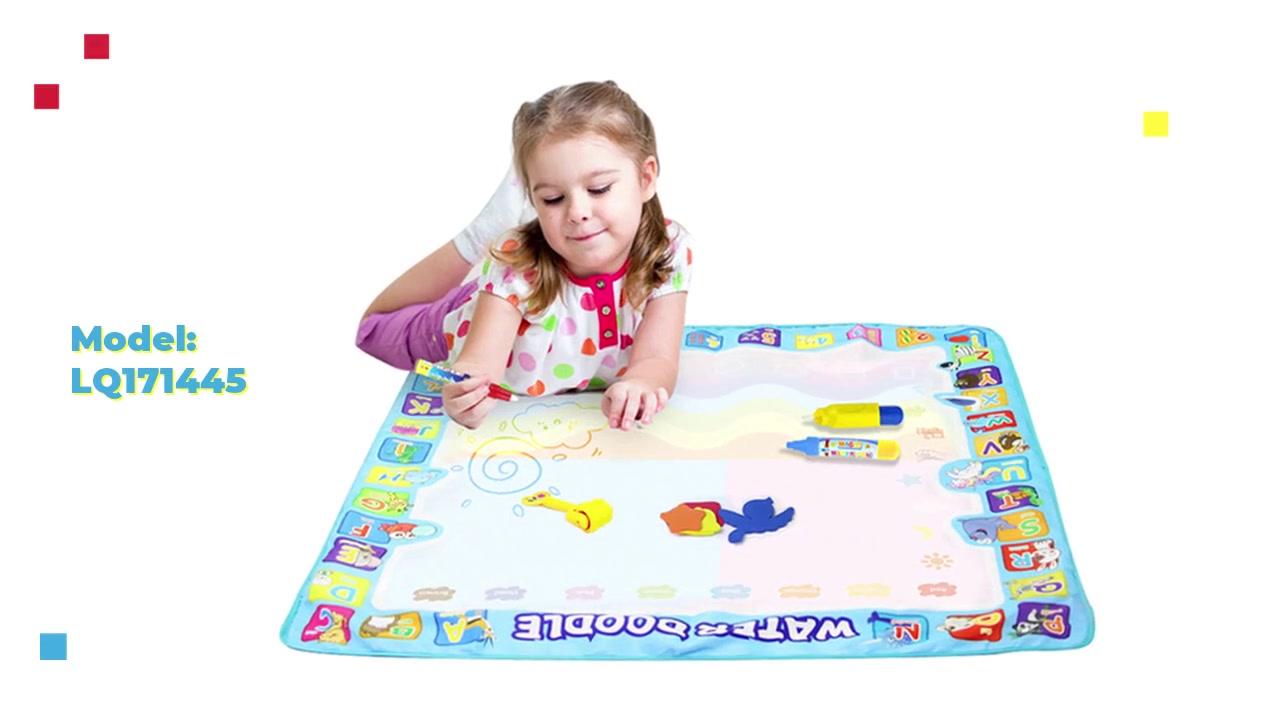 أفضل Aquadoodle حصيرة كتابات الأطفال التعليم المبكر بطانية اللعب خربش الماء / المياه قماش OEM