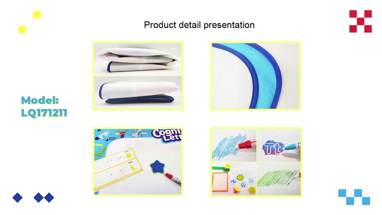 OEM /水落書きマットライティングブランケットグラフィティパズルおもちゃ落書きマット/パターンは、PVCの恐竜で消えます