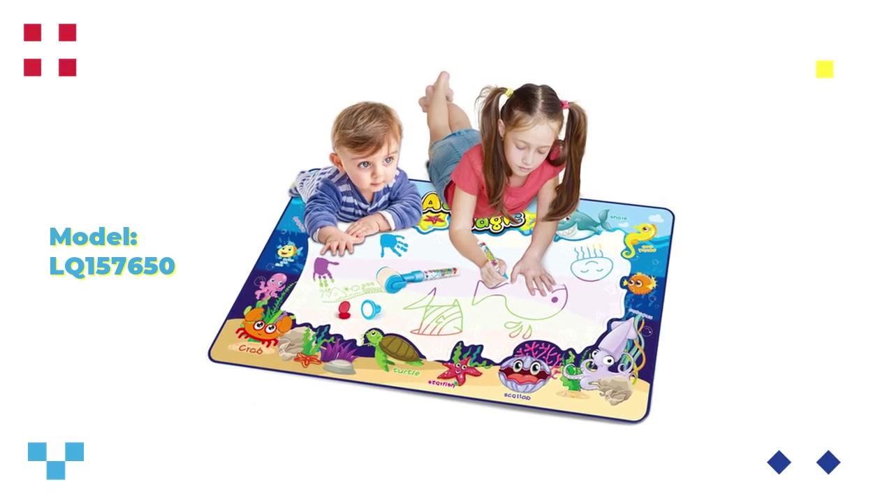 소개 OEM / 물 낙서 매트 담요 낙서 퍼즐 장난감을 쓰는 낙서 매트 / 패턴이 운이 좋은 장난감을 사라질 것입니다.