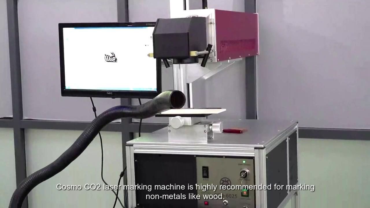 آلة وضع علامة ليزر CO2 للمواد غير المعدنية